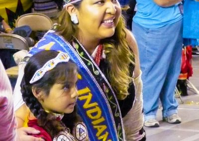 Miss Indian World with child