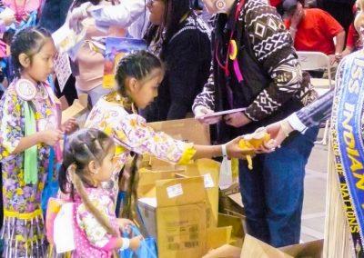 children getting toys