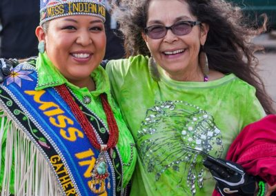 Miss Indian World poses with woman