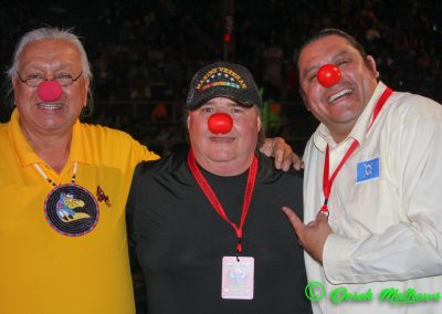 men with clown noses