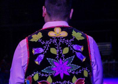 Back of vest with floral details