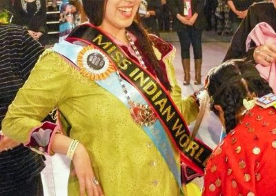 Miss indian world smiling