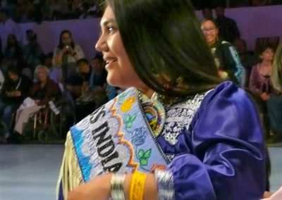 Miss Indian World being crowned