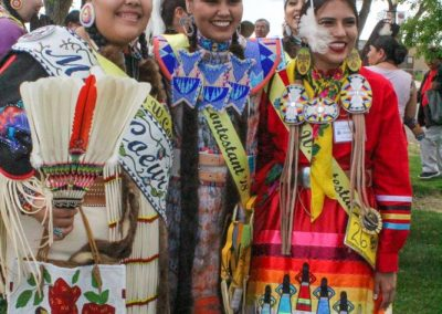 Miss Indian World contestants smiling