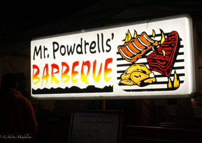 Mr. Powdrells' Barbeque stand