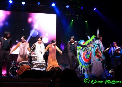 Miss Indian World contestant dancing