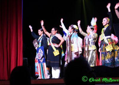 Miss Indian World contestants waving