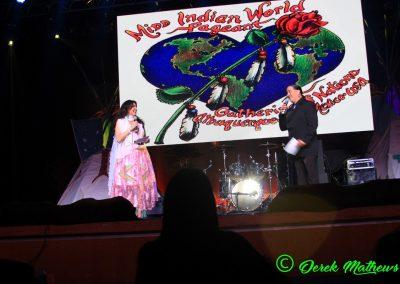 Miss Indian World presenters talking