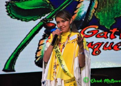 Miss Indian World contestant talking