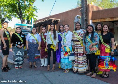 Miss Indian World contestants posing