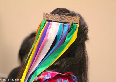 woman with her hair piece