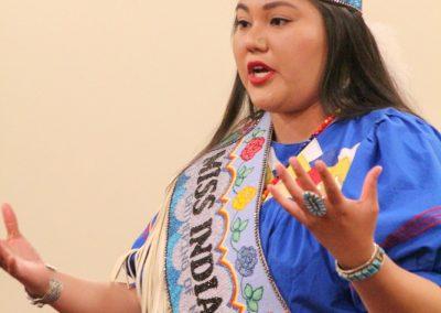 Miss Indian World talking