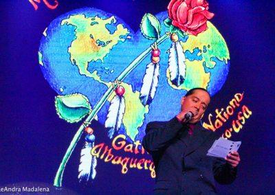 Miss Indian World presenter talking