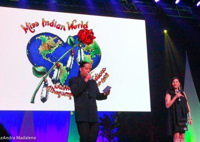 Miss Indian World presenter speaking