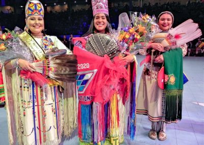 Miss Indian World being congratulated