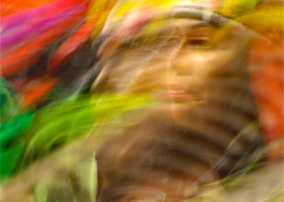 Colorful image of a woman