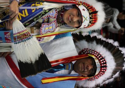 man and woman in headdresses