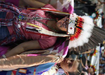woman in headdress
