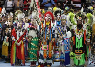 Miss Indian World and Gathering of Nations participants