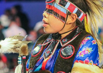 Boy at Gathering of Nations event