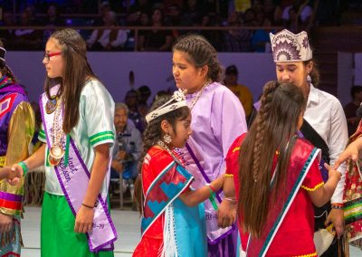 Children shaking hands at Gathering of Nations