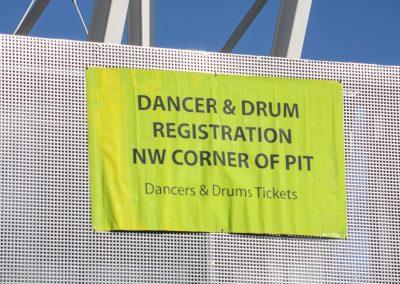 Dancer and Drum registration sign