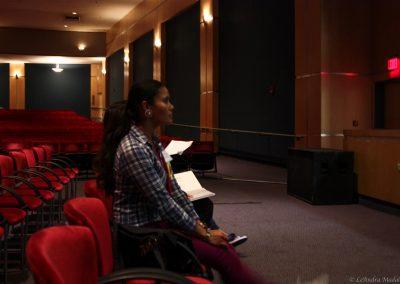 woman watching performance