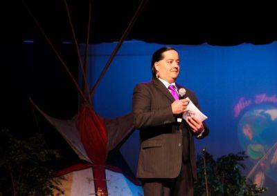 presenter on stage