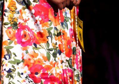woman's floral dress