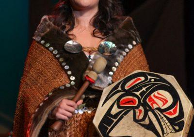 woman's drum details