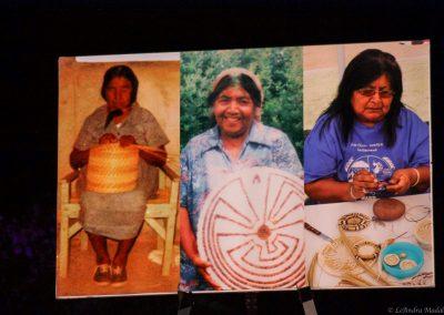 women weaving baskets
