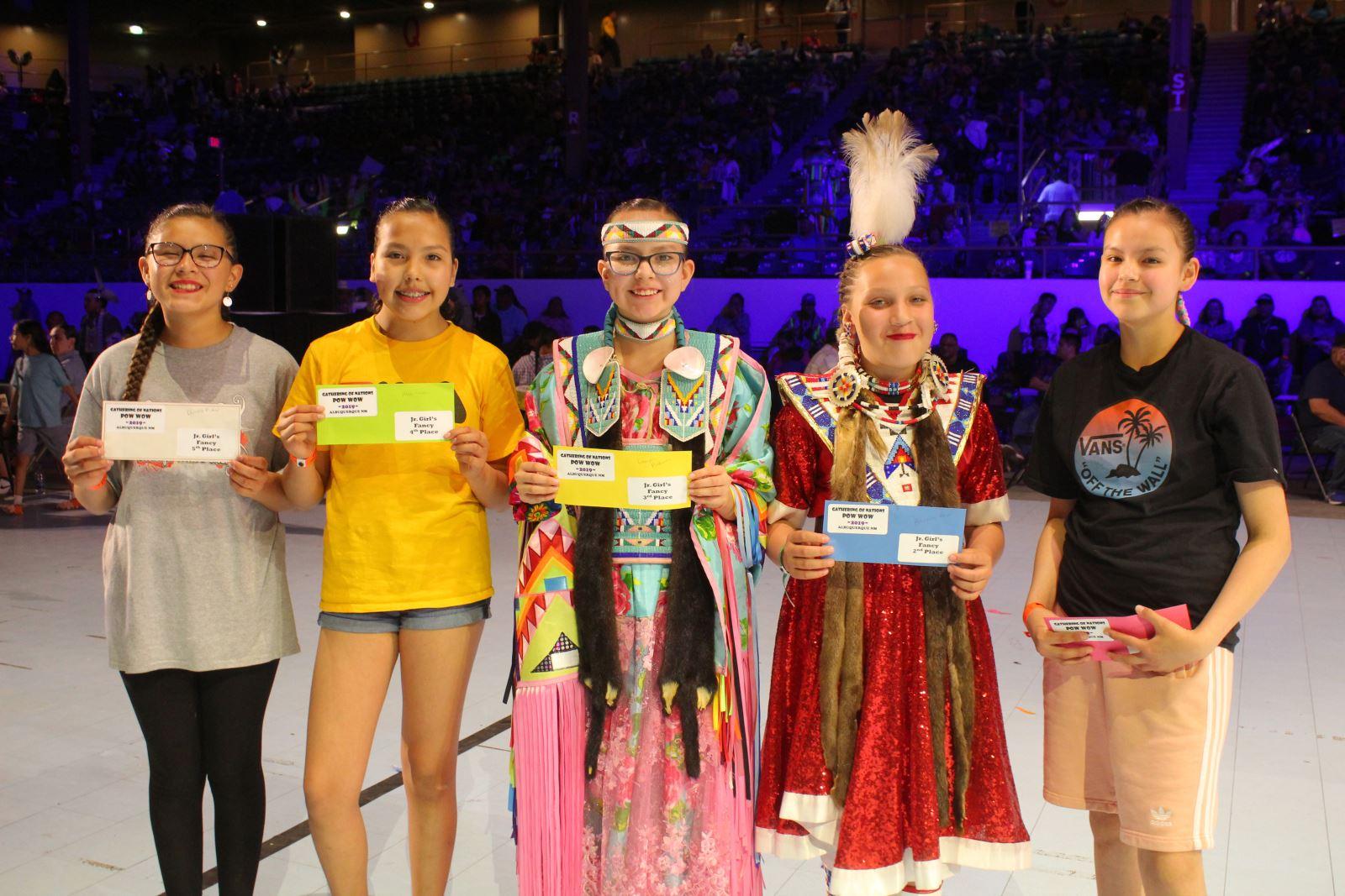 Jr. Girls Fancy Shawl Winners