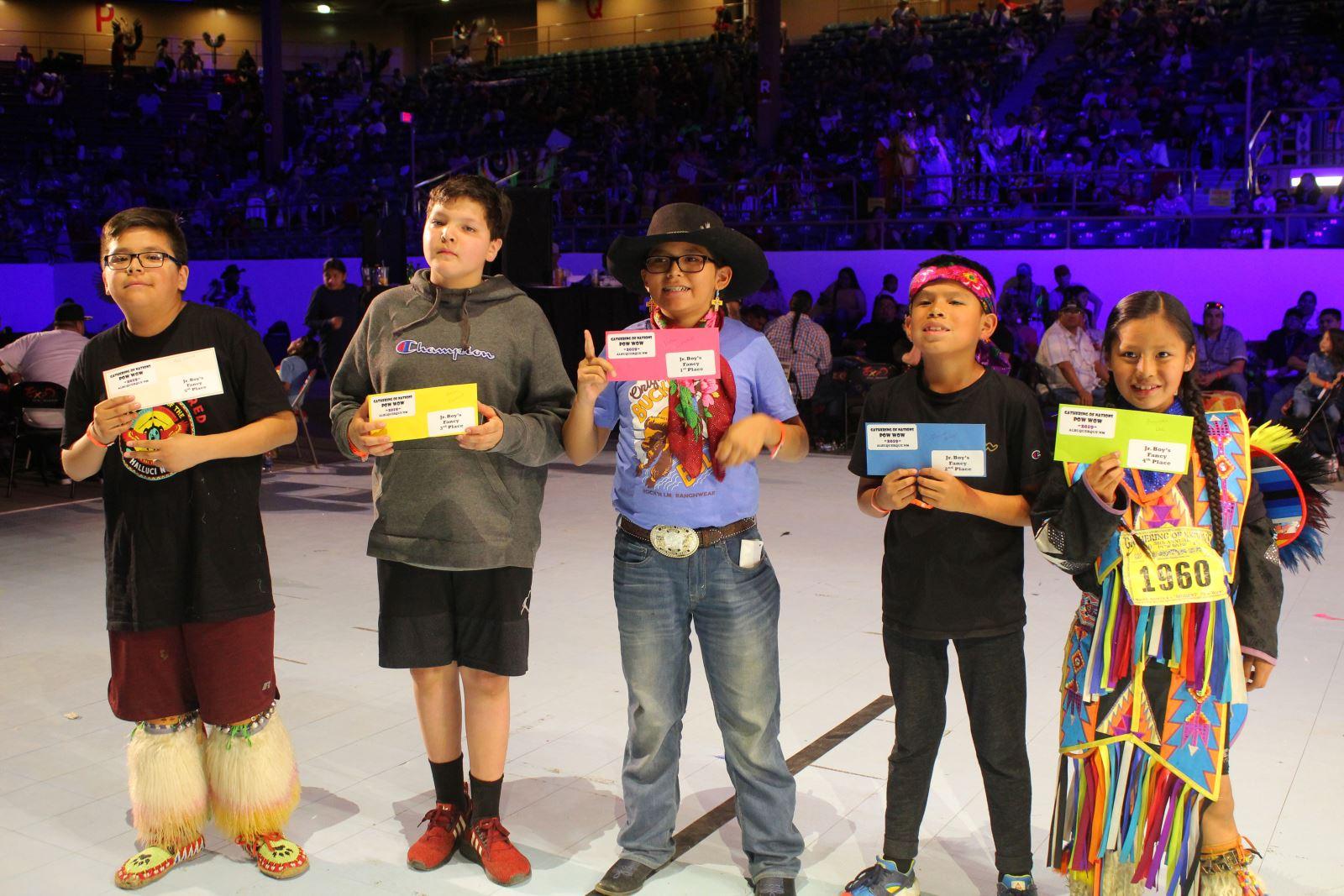 Jr. Boys Fancy Dance Winners