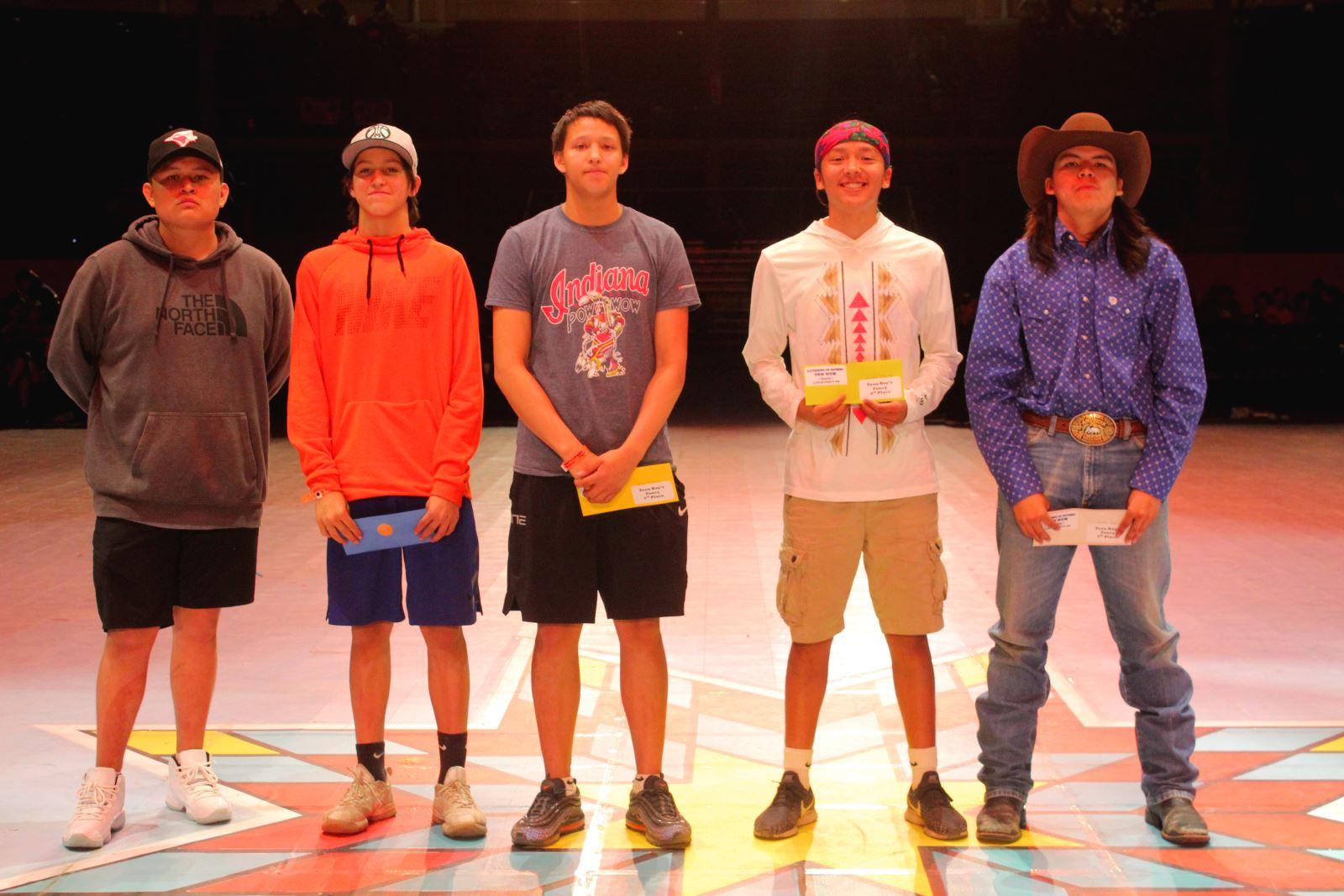 Teen Boys Fancy Dance Winners