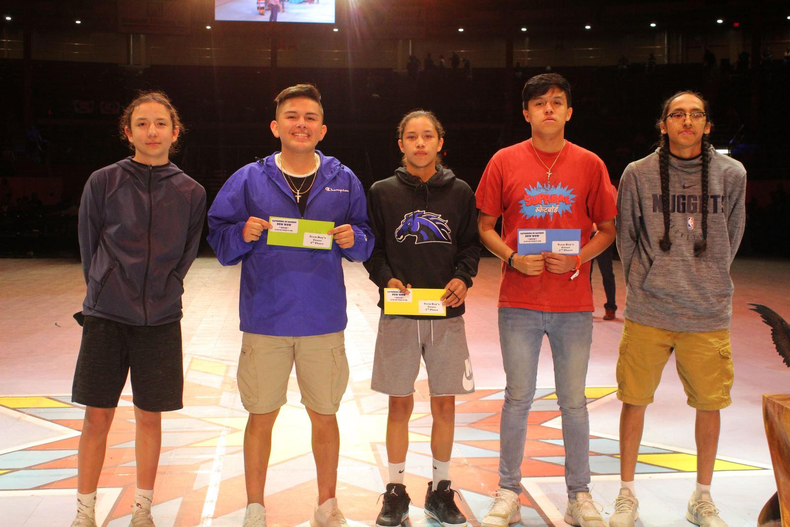 Teen Boys Grass Dance Winners